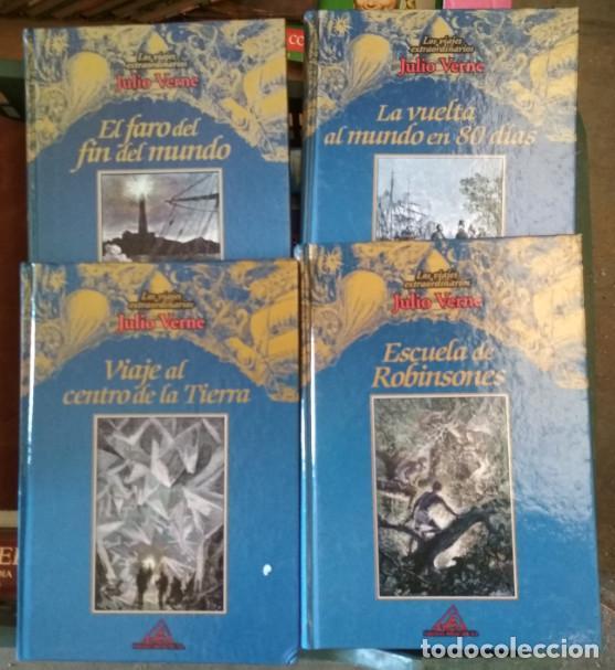 LOTE DE 4 LIBROS COLECCION LOS VIAJES EXTRAORDINARIOS, JULIO VERNE, ED. RUEDA 1ª ED. 2000 (Libros de Segunda Mano (posteriores a 1936) - Literatura - Narrativa - Otros)