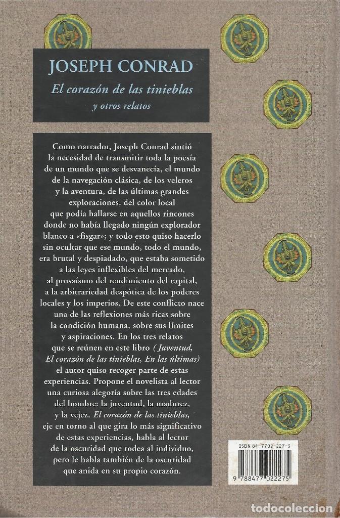 Libros de segunda mano: EL CORAZÓN DE LAS TINIEBLAS Y OTROS RELATOS, Joseph Conrad - Foto 2 - 133687046