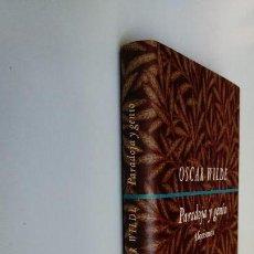 Libros de segunda mano: OSCAR WILDE PARADOJA Y GENIO, AFORISMOS, CÍRCULO DE LECTORES. 295 GRAMOS.. Lote 133771590