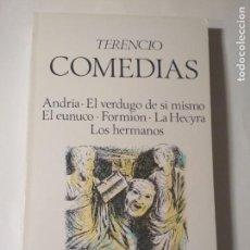Libros de segunda mano: COMEDIAS - TERENCIO. Lote 134134342