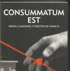 Libros de segunda mano: CESAR PEREZ GELLIDA. CONSUMMATUM EST. . Lote 134980494