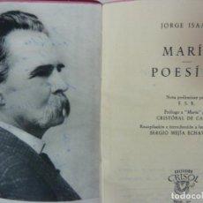 Libros de segunda mano: MARÍA. POESÍAS. JORGE ISAACS. CRISOL Nº 90. AÑO 1957. Lote 135048114