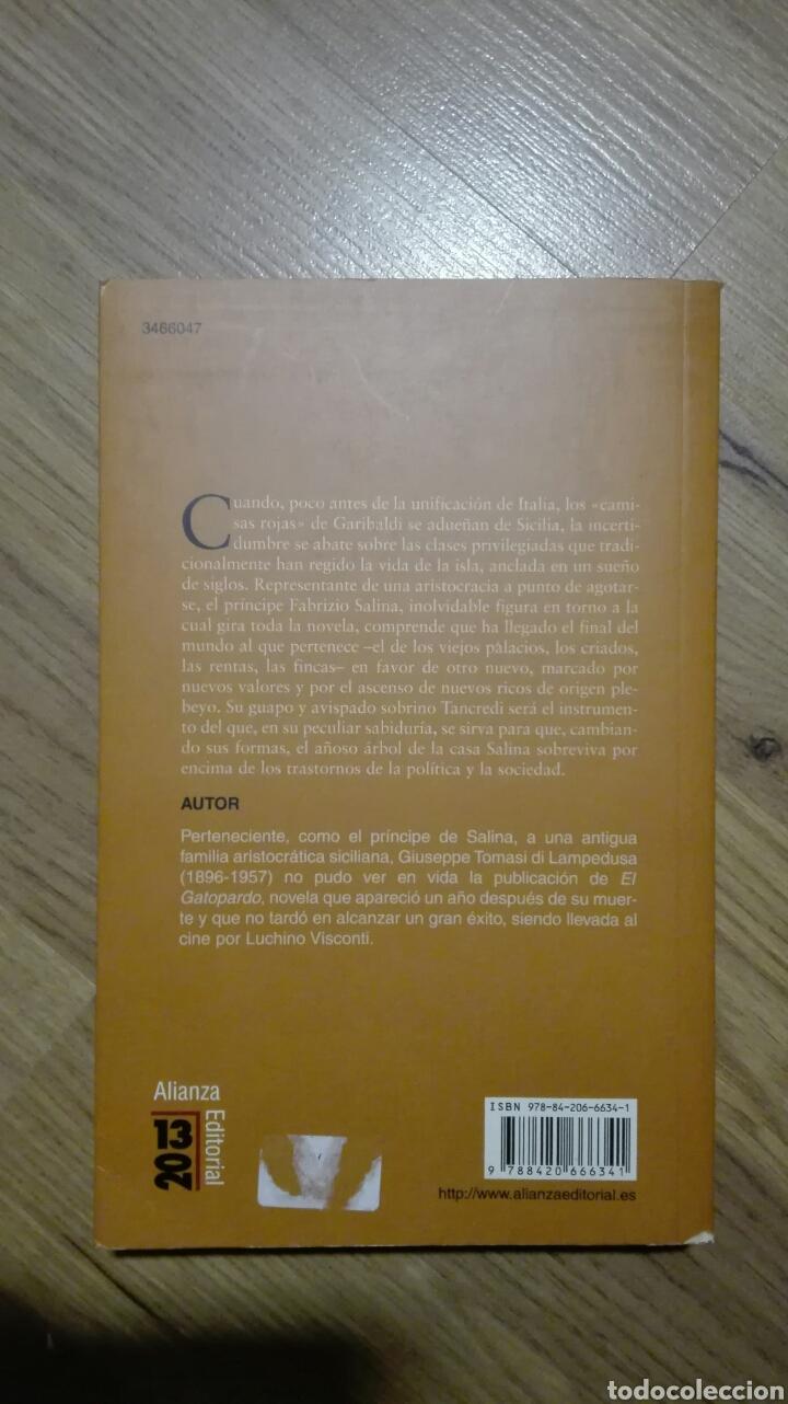 Libros de segunda mano: El Gatopardo. Giuseppe Tomasi di Lampedusa. - Foto 2 - 135532594
