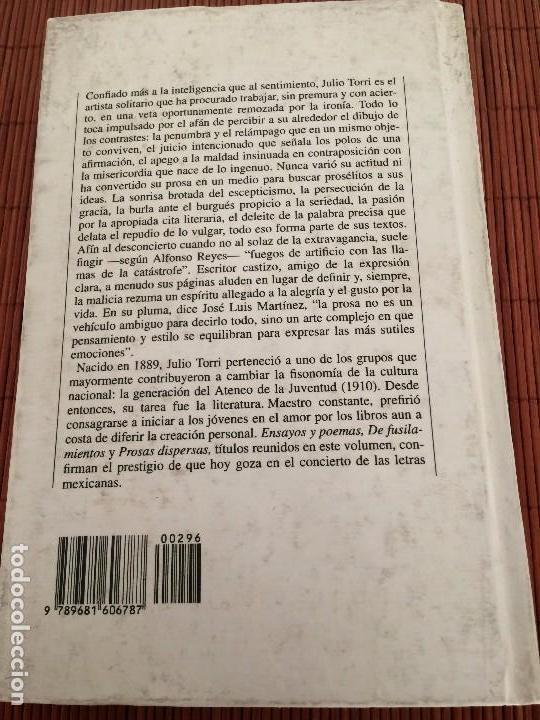 Libros de segunda mano: Tres libros - Julio Torri - Fondo de Cultura Económica - Foto 6 - 135682235