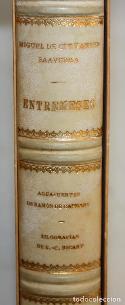 Gebrauchte Bücher: ENTREMESES X MIGUEL DE CERVANTES. 10 GRABADOS RAMON CAPMANY Y XILOGRAFIAS E.C. RICART NIN. NUMERADO - Foto 6 - 135771438
