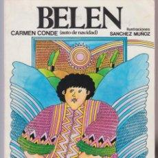 Libros de segunda mano: BELEN CARMEN CONDE 46 PAGINAS MADRID AÑO 1979 LE2673. Lote 136010698