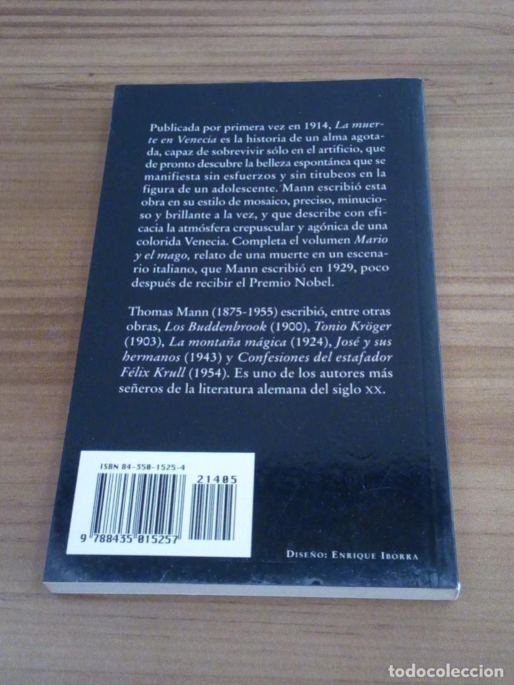 Libros de segunda mano: LA MUERTE EN VENECIA. THOMAS MANN. POCKET EDHASA 25. 2 ª ED 2005 - Foto 4 - 136234318