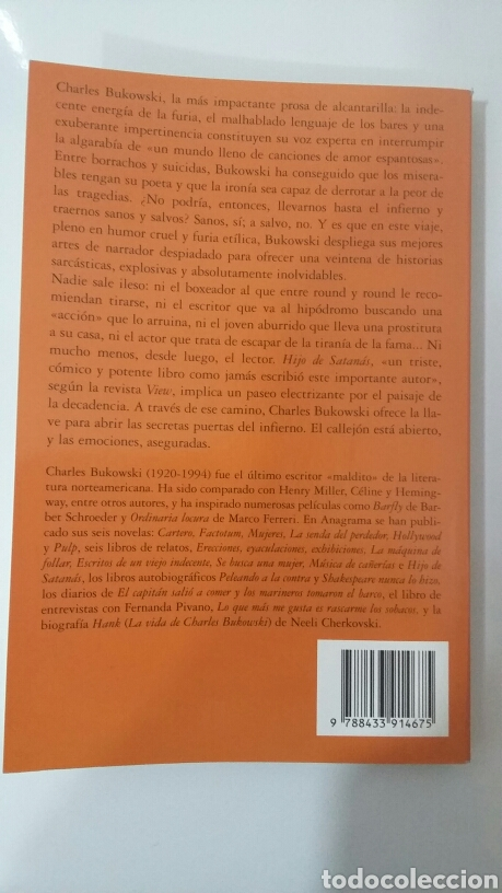 Libros de segunda mano: Hijo de satanás. Charles Bukowski. 1996 - Foto 2 - 136313802