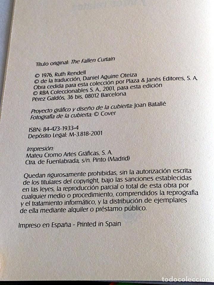 Libros de segunda mano: LA PLANTA CARNÍVORA Y OTROS RELATOS. RENDELL, RUTH. RBA. 1 ª ED. 2001 - Foto 5 - 136766058