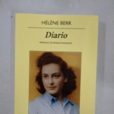Libros de segunda mano: DIARIO 1942-1944 / HÉLÈNE BERR UNA VIDA CONFISCADA (HÉLÈNE BERR / MARIETTE JOB) ANAGRAMA. Lote 137357946