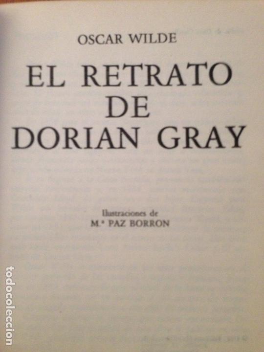 Libros de segunda mano: EL RETRATO DE DORIAN GRAY - OSCAR WILDE - Foto 2 - 137448384
