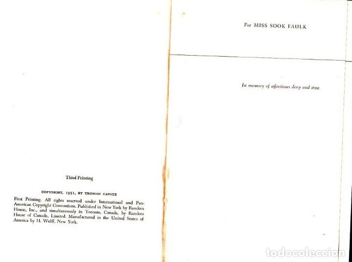Libros de segunda mano: THE GRASS HARP. A NOVEL BY TRUMAN CAPOTE. 1ª EDICION. 1951. LIBRO EN INGLES. - Foto 2 - 137963682
