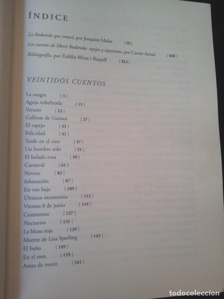 Libros de segunda mano: MERCE RODOREDA - CUENTOS COMPLETOS - COLECCION OBRA FUNDAMENTAL, FUNDACION BANCO SANTANDER 2002 - Foto 4 - 138567230