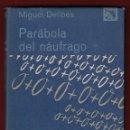 Libros de segunda mano: MIGUEL DELIBES PARÁBOLA DE UN NAÚFRAGO ED DESTINO 1969 1ª EDICIÓN COLECCIÓN ANCORA Y DELFÍN NÚM 329. Lote 138810814