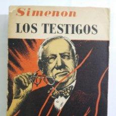 Libros de segunda mano: LOS TESTIGOS - GEORGES SIMENON - ED. ALBOR - 1956. Lote 139478386