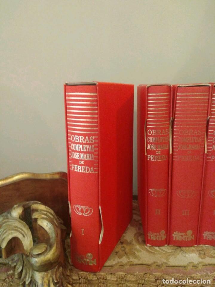 Libros de segunda mano: OBRAS COMPLETAS - JOSE MARÍA PEREDA - 11 VOLÚMENES - EDICCIONES TANTIN 1989 SANTANDER COLECCIONISTAS - Foto 2 - 139481074