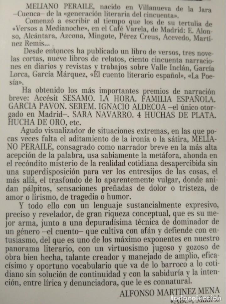 Libros de segunda mano: Meliano Peraile / Meliano Peraile. Premio de Novela Casino de Mieres, 1987 - Foto 4 - 139945774