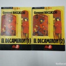 Libros de segunda mano: EL DECAMERON. GIOVANNI BOCCACCIO. I Y II. 1 Y 2. BIBLIOTECA EL SOL Nº 11 Y 12. TDK309 . Lote 139948458