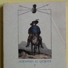 Libros de segunda mano: ADICIONES AL QUIJOTE Y VIDA DE SANCHO PANZA. FACSÍMIL ALMARABU. Lote 140823002