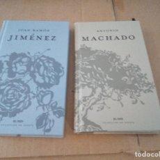 Libros de segunda mano: JUAN RAMON JIMENEZ + ANTONIO MACHADO EL PAIS COLECCION DE POESIA. Lote 142058626