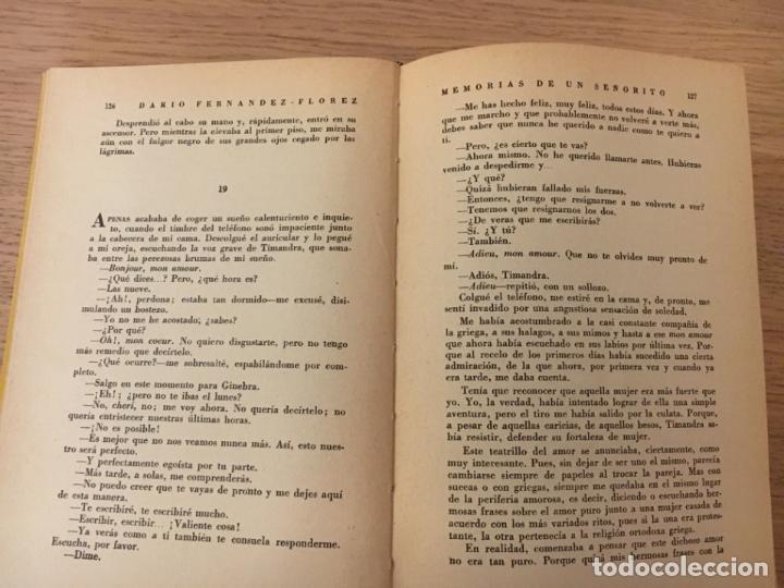 Libros de segunda mano: DARÍO FERNÁNDEZ-FLÓREZ. MEMORIAS DE UN SEÑORITO. 1ª ED. 1956 - Foto 3 - 143605158