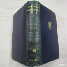 Libros de segunda mano: ALDOUS HUXLEY- OBRAS COMPLETAS - TOMO I - EDI JANES 1ª 1952 1237PAG, PLENA PIEL, VER FOTO INDICE. 1S. Lote 143740442