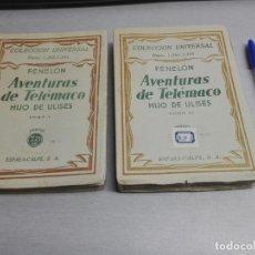 Livros em segunda mão: AVENTURAS DE TELÉMACO HIJO DE ULISES / 2 LIBROS / FENELÓN / COLECCIÓN UNIVERSAL - ESPASA CALPE 1932. Lote 144092194