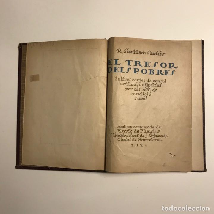 Libros de segunda mano: EL TRESOR DELS POBRES DE R. SURIÑACH SENTIÉS, 1921 autografo numerado - Foto 2 - 146832034