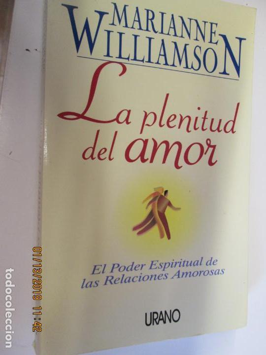la plenitud del amor marianne williamson