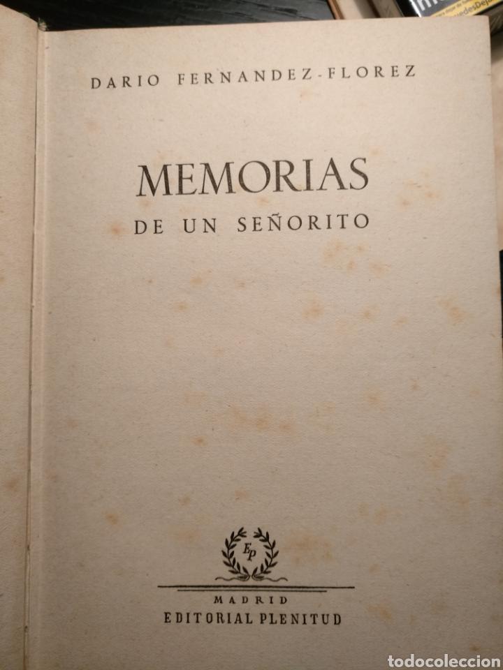 Libros de segunda mano: Memorias de un señorito, Darío Fernández Florez - Foto 3 - 147220689