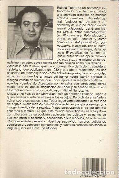 Libros de segunda mano: ACOSTARSE CON LA REINA Y OTRAS DELICIAS - TOPOR - CONTRASEÑAS Nº 39 / ANAGRAMA - Foto 2 - 147494434
