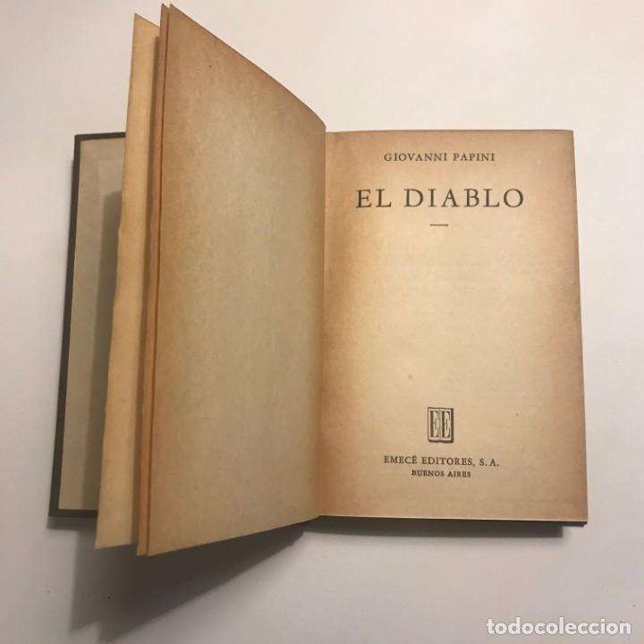 EL DIABLO - GIOVANNI PAPINI. 1954 (Libros de Segunda Mano (posteriores a 1936) - Literatura - Narrativa - Otros)
