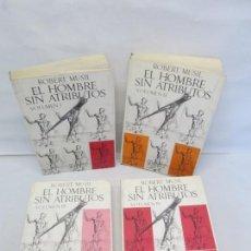 Libros de segunda mano: EL HOMBRE SIN ATRIBUTOS. VOLUMEN I-II-III-IV. ROBERT MUSIL. EDITORIAL SEIX BARRAL. Lote 148435630