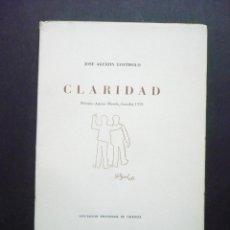Libros de segunda mano: CLARIDAD. - GOYTISOLO, JOSE AGUSTIN.. Lote 57173264