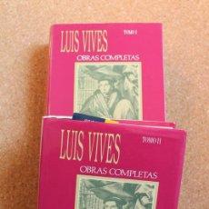 Libros de segunda mano: OBRAS COMPLETAS. VIVES (JUAN LUIS) MADRID, GENERALITAT VALENCIANA, AGUILAR, 1947.. Lote 150136346