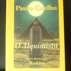 Libros de segunda mano: O ALQUIMISTA PAULO COELHO ILUSTRADA MOEBIUS 2000 PERGAMINHO, CASCAIS, PORTUGAL, 1.ª REIMPRESSAO. Lote 150688002