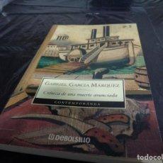 Libros de segunda mano: CRÓNICA DE UNA MUERTE ANUNCIADA GABRIEL GARCIA MARQUEZ.. Lote 151518686