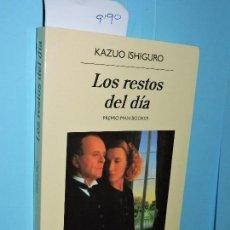 Libros de segunda mano: LOS RESTOS DEL DÍA. ISHIGURO, KAZUO. ED. ANAGRAMA. BARCELONA 2017. 9ªEDICIÓN. Lote 152125926