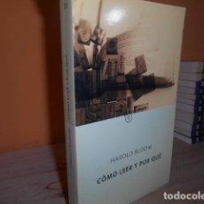 Libros de segunda mano: COMO LEER Y POR QUE / HAROLD BLOOM. Lote 152378994