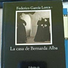 Libros de segunda mano: LA CASA DE BERNARDA ALBA. - GARCIA LORCA, FEDERICO.. Lote 152380217
