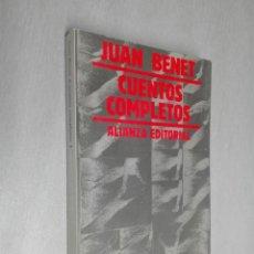 Libros de segunda mano: CUENTOS COMPLETOS 1 / JUAN BENET / ALIANZA EDITORIAL 1981. Lote 154823930