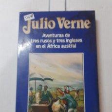 Libros de segunda mano: 11647 - AVENTURAS DE TRES RUSOS Y TRES INGLESES EN EL AFRICA AUSTRAL - Nº 21 - JULIO VERNE. Lote 154885646