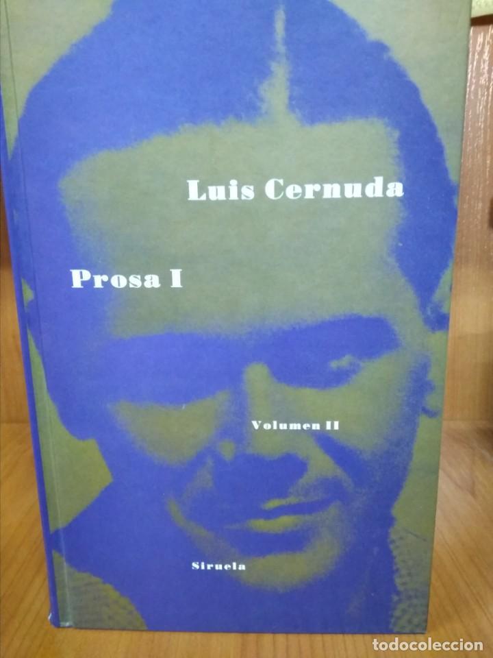 PROSA I, LUIS CERNUDA (Libros de Segunda Mano (posteriores a 1936) - Literatura - Narrativa - Otros)