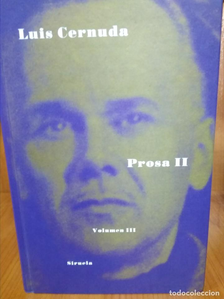 PROSA II, LUIS CERNUDA (Libros de Segunda Mano (posteriores a 1936) - Literatura - Narrativa - Otros)