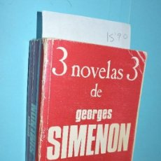 Libros de segunda mano: 3 NOVELAS DE GEORGES SIMENON. ED. LUIS DE CARALT. BARCELONA 1973. Lote 155787582