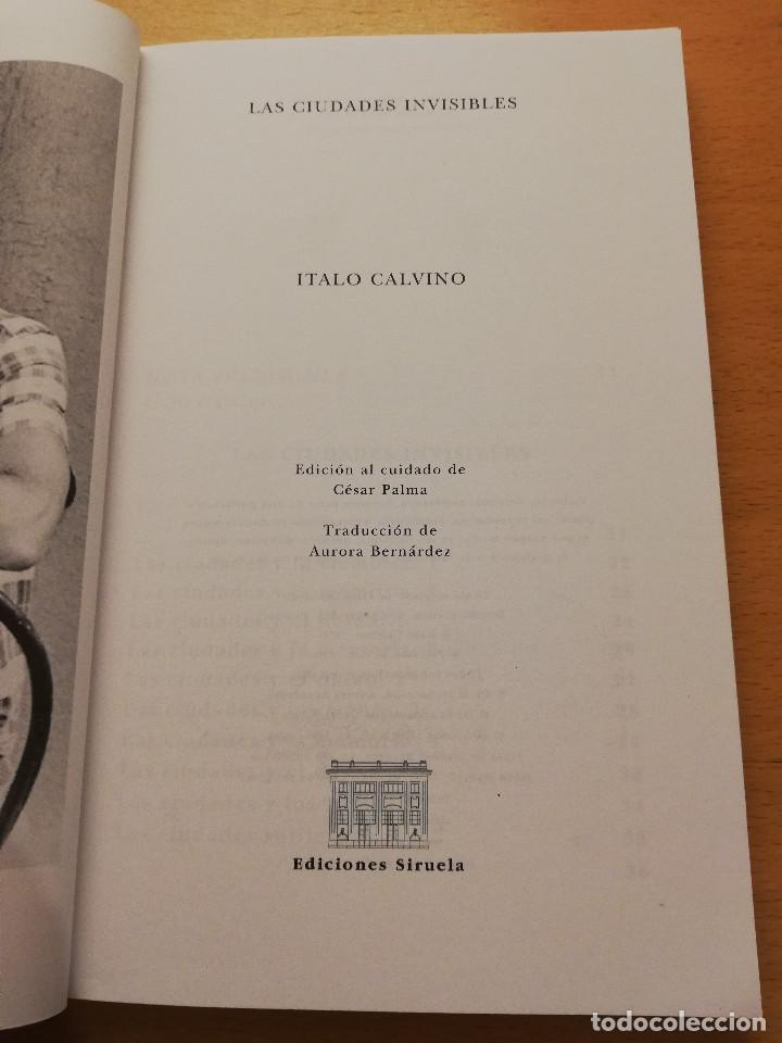 Gebrauchte Bücher: LAS CIUDADES INVISIBLES (ITALO CALVINO) SIRUELA - Foto 2 - 155864150