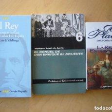 Libros de segunda mano: LOTE 2 NOVELAS HISTORICAS (V. HOLT - LARRA) + CONVERSACIONES CON JUAN CARLOS I - JOSÉ LUIS DE VILALL. Lote 156042474