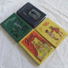 Libros de segunda mano: 4 VOLÚMENES DE BIBLIOTECA ADAN Y EVA: GUILLERMO TELL, A LA RUEDA RUEDA, RETRATO DORIAN GREY, GOYA. Lote 156648186