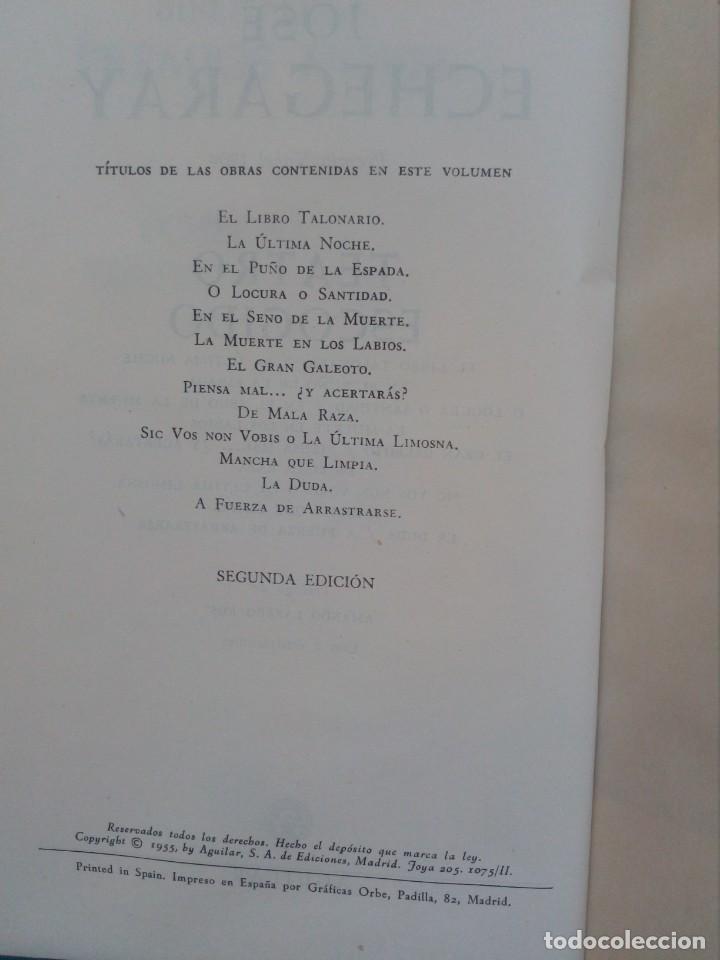 Libros de segunda mano: Jose Echegaray - Teatro Escogido - 1955 - Aguilar - Foto 2 - 156913802