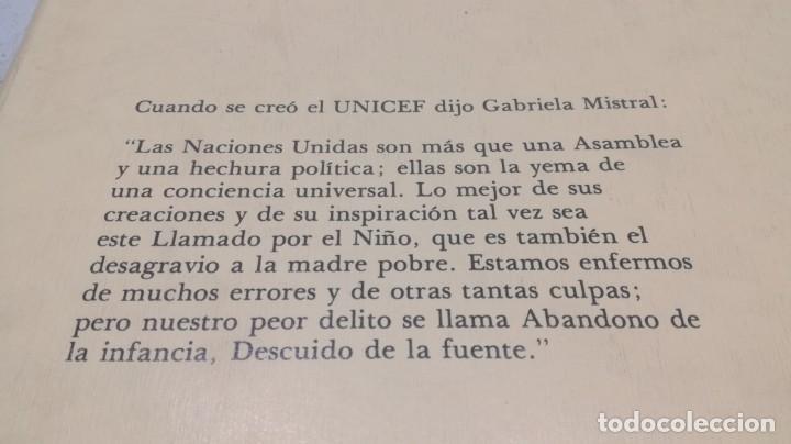 Libros de segunda mano: EL NIÑO EN LA POESÍA DE GABRIELA MISTRAL / FONDO NACIONES UNIDAS PARA LA INFANCIA/ / / D - Foto 3 - 157976086